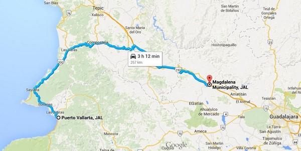 route puerto vallarta magdalena